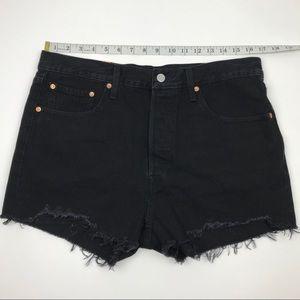 Levi's Shorts - NWT Levi's 501 Wedgie Black Re/Done Shorts Sz 32